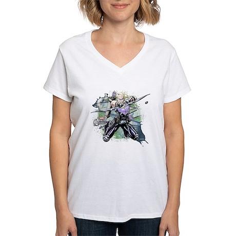 Hawkeye Grunge Women's V-Neck T-Shirt