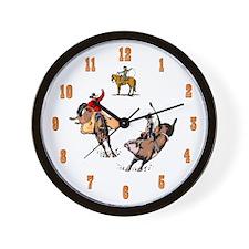 Unique Bucking bull Wall Clock