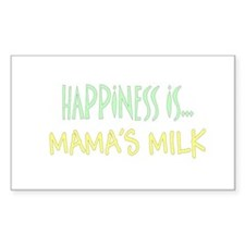 Happiness is Mamas Milk Rectangle Decal