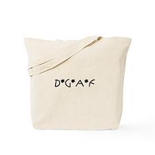 DGAF1_BLK1 Tote Bag