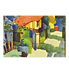 August Macke, House in th Postcards (Package of 8)