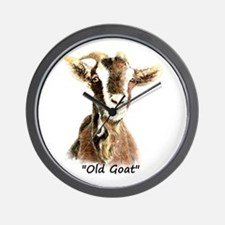 Old Goat Fun Quote for Him Wall Clock