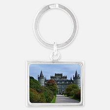Inveraray in Scotland Landscape Keychain