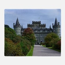 Inveraray Palace in Scotland Throw Blanket
