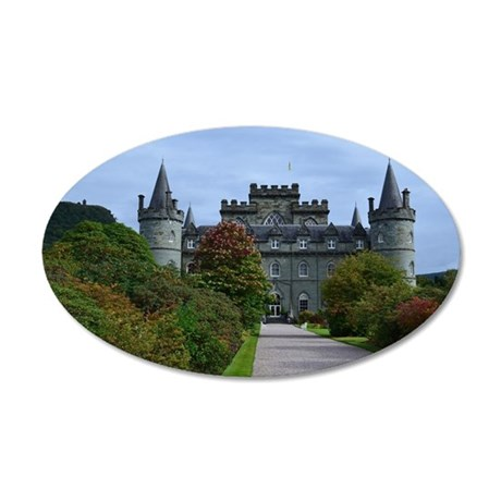 Inveraray Palace in Scotland 20x12 Oval Wall Decal