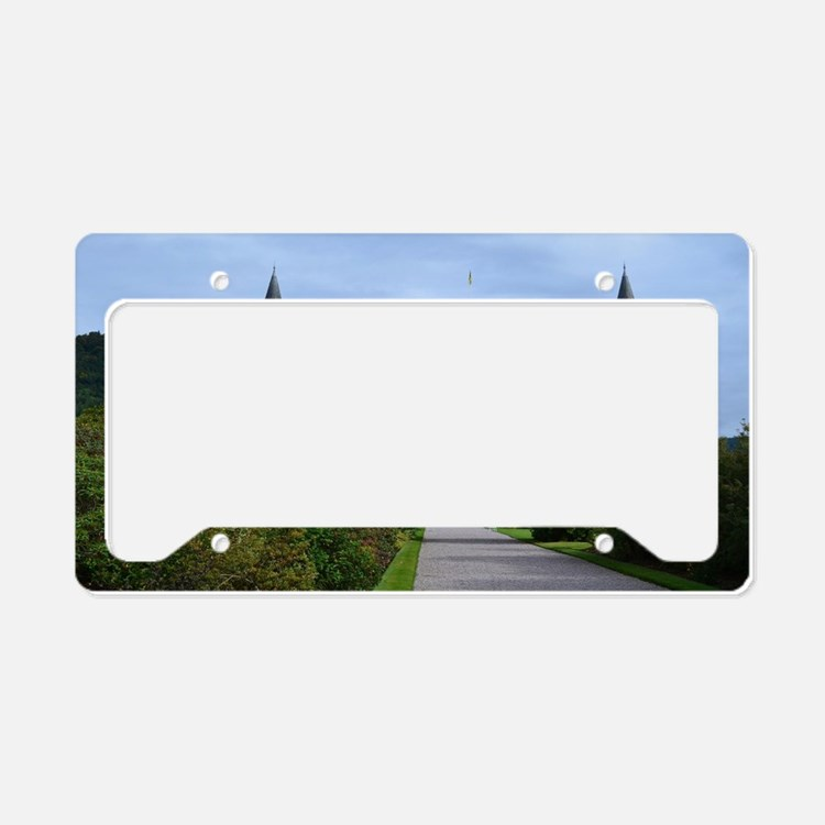 Inveraray Palace in Scotland License Plate Holder