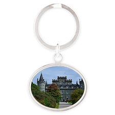 Inveraray Palace in Scotland Oval Keychain