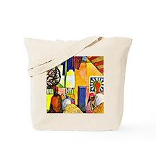 August Macke - In the Bazaar Tote Bag