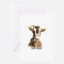 Old Goat Fun Quote for Him Greeting Cards