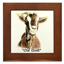 Old Goat Fun Quote for Him Framed Tile