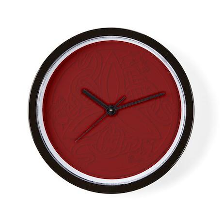 Red Dragon Trinity Knot Wall Clock