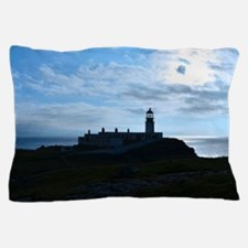 Silhouetted Lighthouse at Neist Point Pillow Case