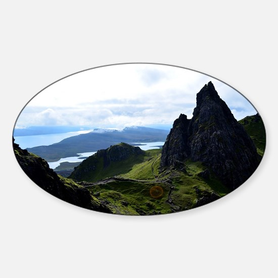 Hiking on the Isle of Skye Sticker (Oval)