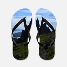Silhouetted Rocks at the Old Man of Sto Flip Flops