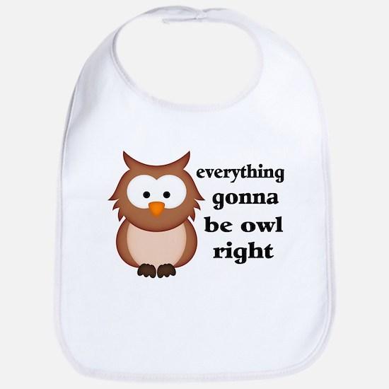 Everything Gonna Be Owl Right Bib