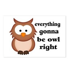 Everything Gonna Be Owl R Postcards (Package of 8)