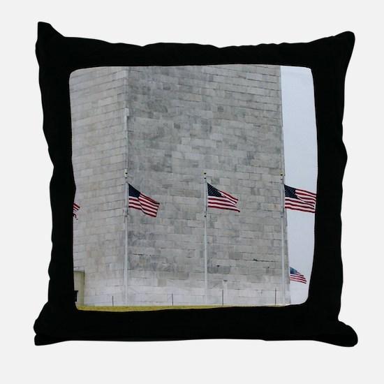 Base of Washington Monument Throw Pillow