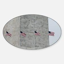 Base of Washington Monument Sticker (Oval)