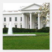 "President's House Square Car Magnet 3"" x 3"""