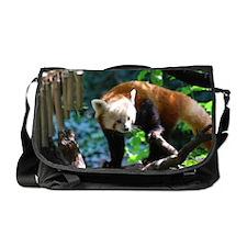 Adorable Climbing Red Panda Messenger Bag