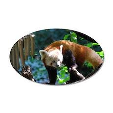 Adorable Climbing Red Panda Wall Sticker