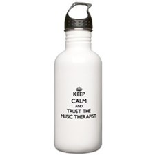 Keep Calm and Trust the Music Therapist Water Bott