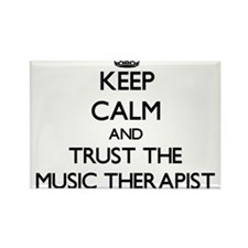 Keep Calm and Trust the Music Therapist Magnets