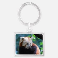 Adorable Face of a Red Panda Be Landscape Keychain