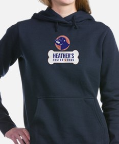 Heathers Foster Dogs Logo Purple Pink Hooded Sweat