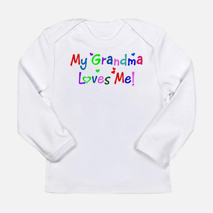 My Grandma Loves Me (younger) Long Sleeve T-Shirt
