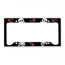 Skulls and Cherries License Plate Holder
