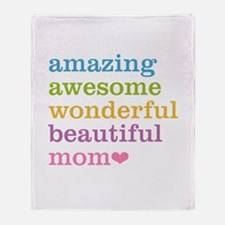 Amazing Mom Throw Blanket