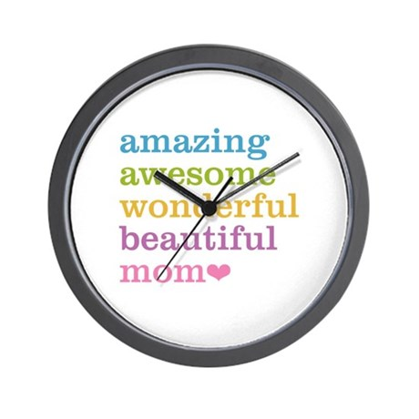 Amazing Mom Wall Clock