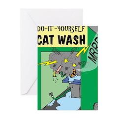DIY Cat Wash Greeting Card