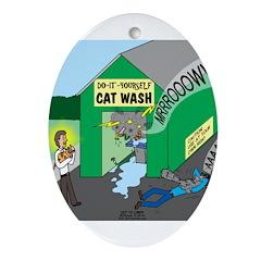 DIY Cat Wash Ornament (Oval)