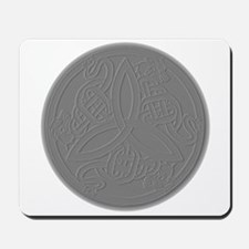 Embossed Dragon Trinity Knot Coin Mousepad