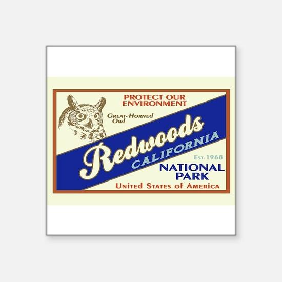 Redwoods (Owl) Rectangle Sticker