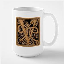 Celtic Monogram V Large Mug