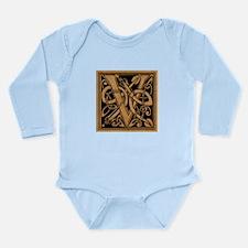 Celtic Monogram V Long Sleeve Infant Bodysuit