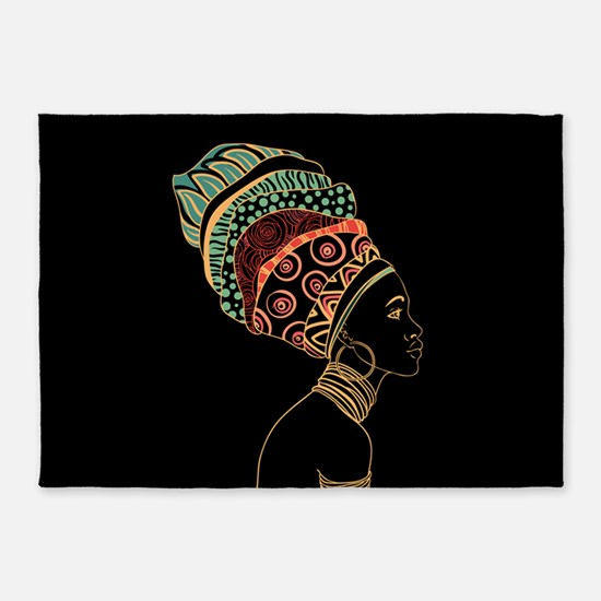 African Woman 5'x7'area Rug