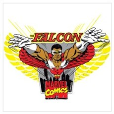 Falcon Badge Wall Art Poster