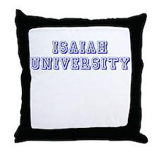 Isaiah University Throw Pillow