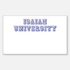 Isaiah University Rectangle Decal