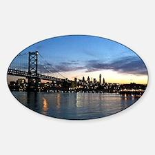 Philadelphia Night Sticker (Oval)