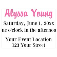 Pink Black Ladybug Invite Invitations