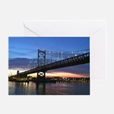 Benjamin Franklin Bridge Greeting Card