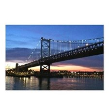 Benjamin Franklin Bridge Postcards (Package of 8)
