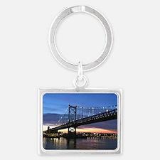 Benjamin Franklin Bridge Landscape Keychain