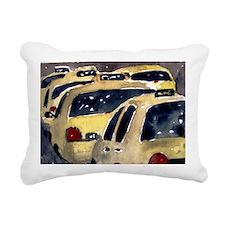 New York City Taxi Rectangular Canvas Pillow