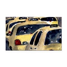 New York City Taxi Rectangle Car Magnet